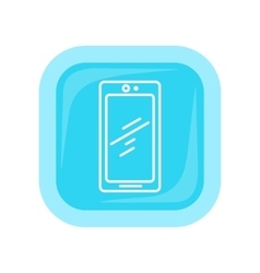 Mobile Phone Icon Isolated Cellphone Communicator vector