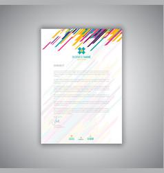 Modern letterhead design vector