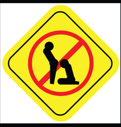 No sex sign vector