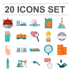 Oil industry cartoon icons in set collection for vector