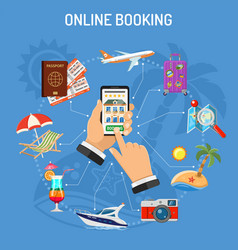 online booking hotel vector image
