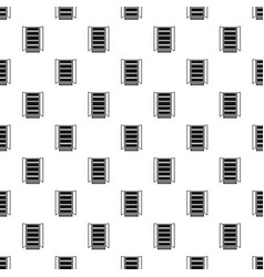 Open glass fridge pattern seamless vector