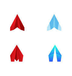 Paper plane icon design vector