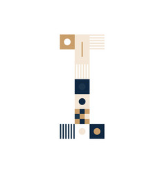 pixel art letter i colorful letter consist of vector image
