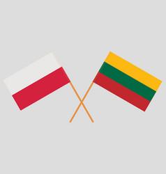 Polish and lithuanian flags vector