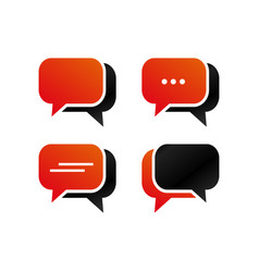 rounded rectangle bubble chat icon vector image