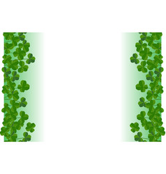 saint patricks day background frame border with vector image