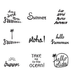 Set 9 summer labels vector