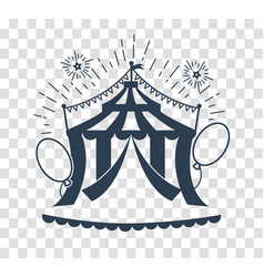 silhouette icon of the circus tent for logo vector image