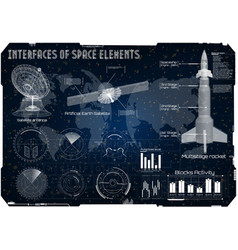 Space background hud space rocket vector