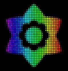 spectral colored dot flower icon vector image