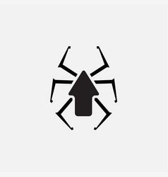 Spider up icon logo design silhouette vector