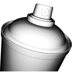 spray can halftone shading in black and white vector image