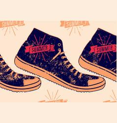 summer typographic retro grunge poster vector image
