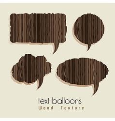 Text balloons vector