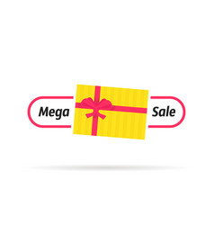 top view gift box like mega sale icon vector image