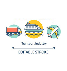 Transport industry concept icon transportation vector