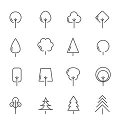tree and plant icon set sign and symbol concept vector image