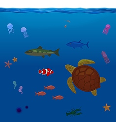 Underwater Inhabitants Sea Life Part 1 vector