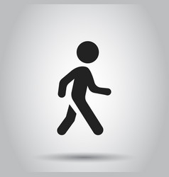 Walking man icon people walk sign business vector