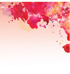 Watercolor background in pink colors vector