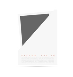 white Origami paper banner for you vector image