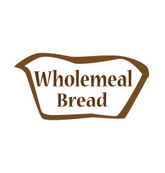 Wholemeal bread outline shape vector
