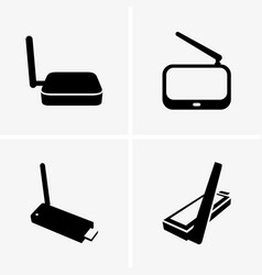 Wifi tv adapters vector