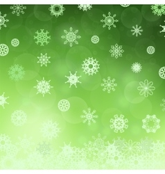 Winter Snowflake Green Pattern vector