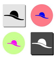 women hat flat icon vector image