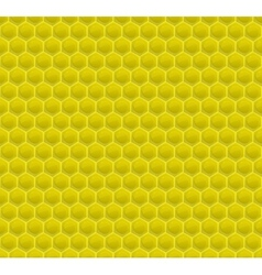 Yellow Pattern Hexagon Mosaic vector image