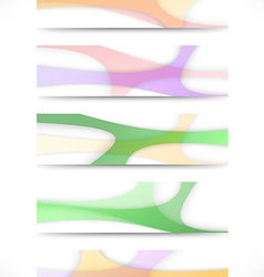 Collection of transparent web headers vector image vector image