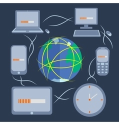 Computer technology and communication vector image