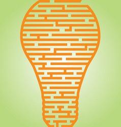 Light Bulb Maze vector image vector image