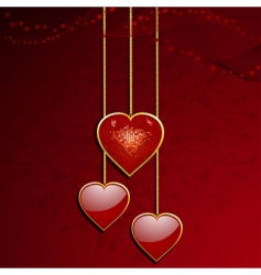 Valentine's heart pendant vector image