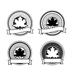 autumn leaf badge vector image