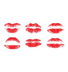 female beautiful lips lipstick kiss vector image vector image