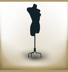 simple tailor dummy vector image
