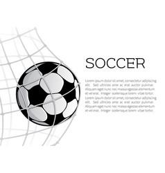 soccer ball in net or goal design vector image