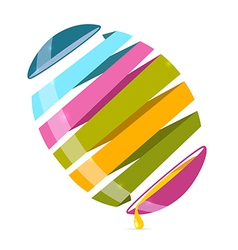 3d Abstract Egg on White Background vector image