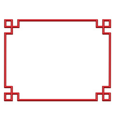 3d china border frame vector image vector image