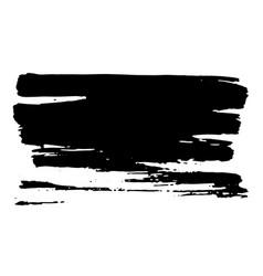horisontal dry brush stroke black color easy to vector image vector image