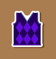 paper sticker on stylish background golf vest vector image