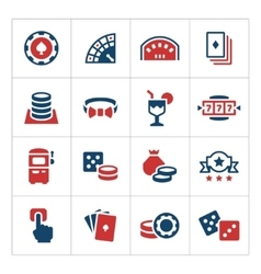 Set color icons of casino vector image