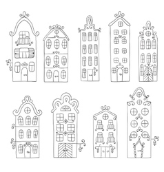Set of town building City streets vector image
