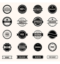 Stamps set vector