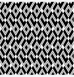 tribal ethnic rhombus monochrome seamless pattern vector image
