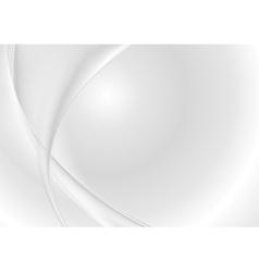 Abstract grey pearl waves vector image