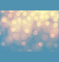 abstract yellow bokeh light on blue luxury backgro vector image