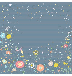 Floral background for card or invitation vector image vector image
